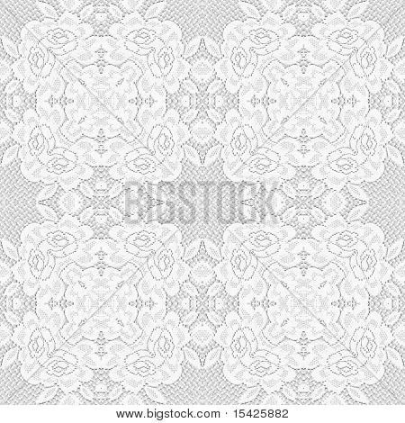 Seamless White On White Lace Background Design