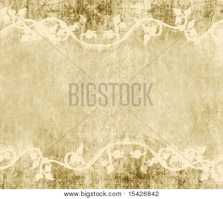 Vines On Vintage Grunge Background