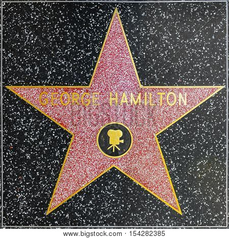 George Hamiltons Star On Hollywood Walk Of Fame