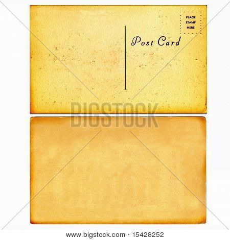 Vintage Real Postcard From Early 1900s With Blank Cardboard Background