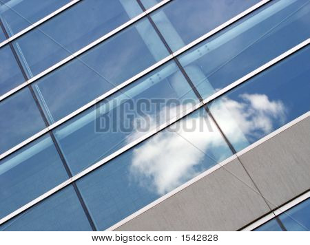 Office Building With Cloud