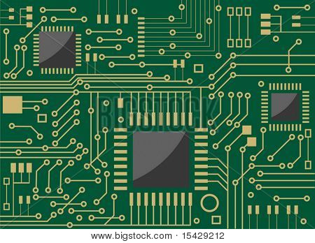 Vector version. Computer microcircuit as a technology concept or background