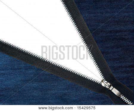 Zipper uzipped jeans