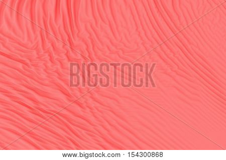 Red fabric folds. Smooth abstract cloth decoration background. 3d render