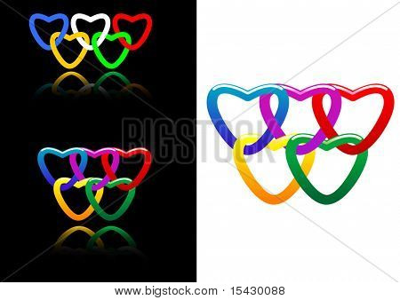 Vector. Set of abstract heart symbols for design. Jpeg version you can see in my gallery