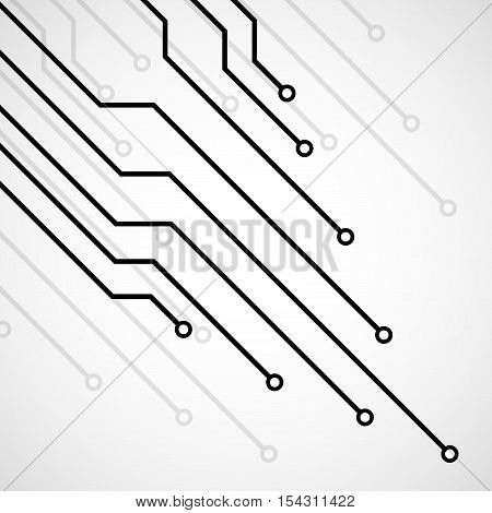 Circuit board technology background vector illustration eps 10