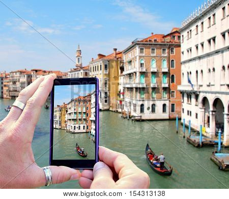 Taking Photo Of Venice