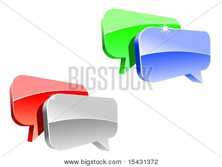 Speech or chat icon for web design. Vector version is also available