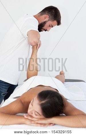 reflexology foot massage treatment.