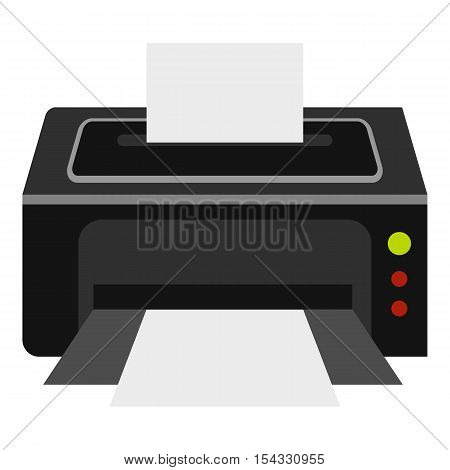 Printer icon. Flat illustration of printer vector icon for web