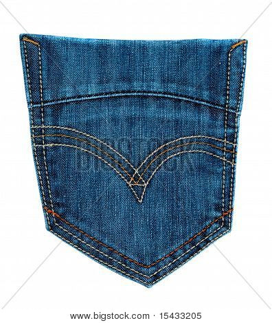 jeans back pocket isolated