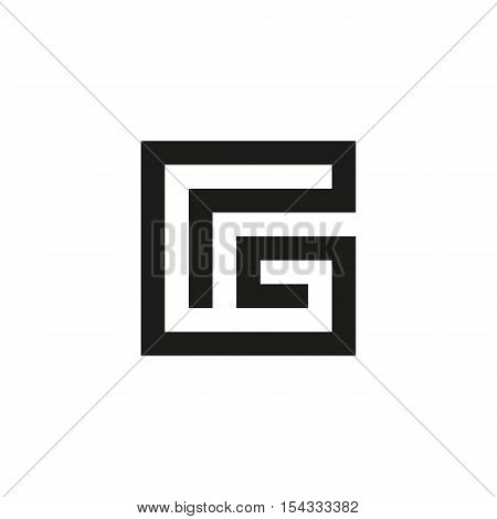 Unusual geometric letter G. Architecture vector logo. Isolated monogram
