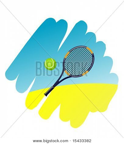 Tennis symbol on white background for design. Jpeg version also available in gallery