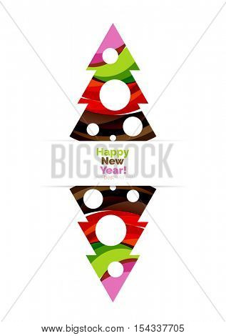 Christmas banner with baubles. Vector geometric banner