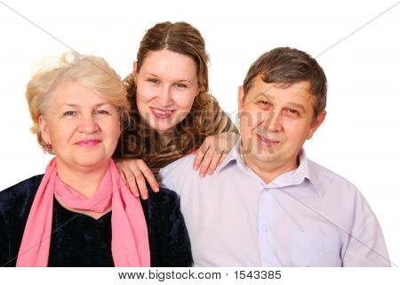 Senior Couple With Girl