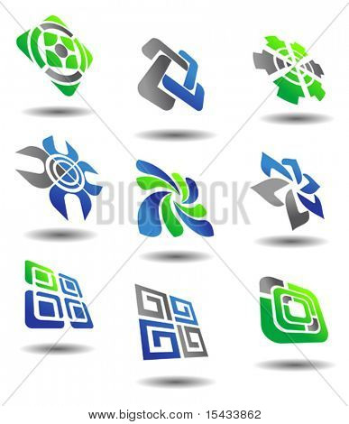 Set of color abstract symbols for design. Jpeg version also available in gallery