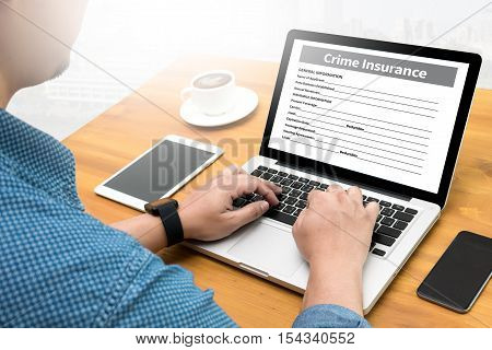 Crime Insurance Application Form Information Business analysis, beta, browsing, computer, creative,