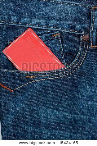 card paper in pocket