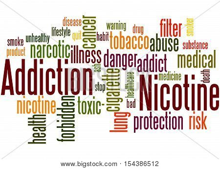 Nicotine Addiction, Word Cloud Concept 9