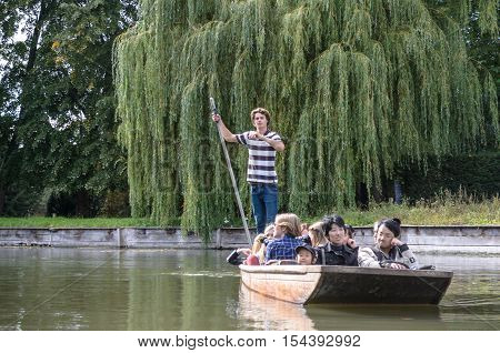 Punting In Summer On The River Cam.
