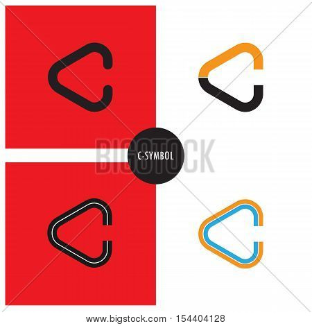 C- Company Symbol.C-letter abstract logo design.Corporate business and industrial logotype symbol.Vector illustration