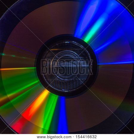 refraction of light on the surface of a compact disc