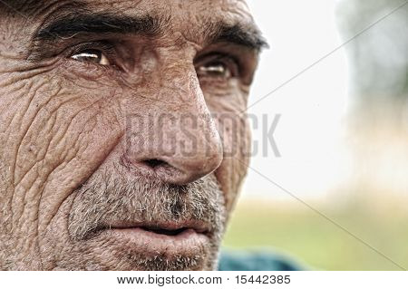 Old man with moustaches and beard