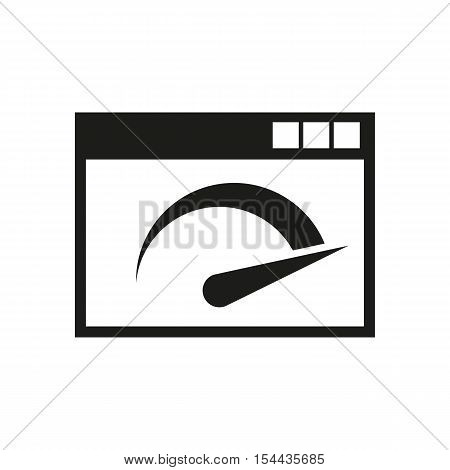 Speed internet test icon. vector design. symbol. web. graphic.app. logo. object. flat. image. sign. eps. art. picture - stock vector