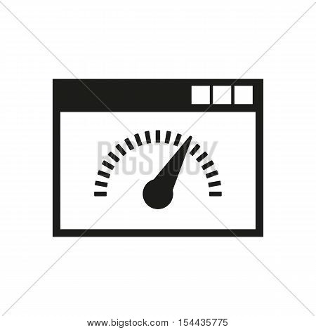 Speed internet test icon. vector design. symbol. web. graphic.  app. logo. object. flat. image. sign. eps. art. picture - stock vector