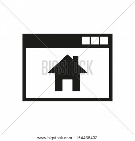 Homepage icon. vector design. Home symbol. web. graphic. JPG. AI. app. logo. object. flat. image. sign. eps. art. picture - stock vector