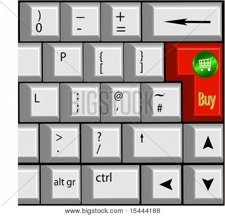 Keyboard With 'buy' Symbols.eps