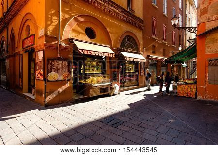 Bologna Italy -September 04 2016: Grocery stores in the