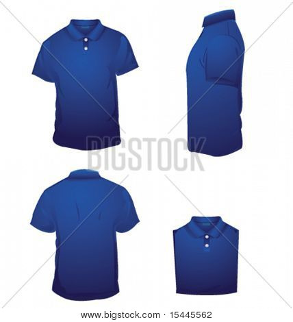 camiseta polo azul
