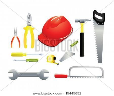 icon set of worker tools