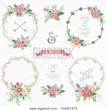 Flower Wreath Elements