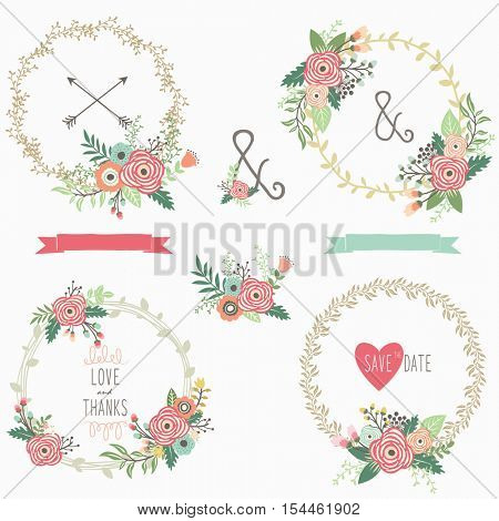 Flower Wreath Set