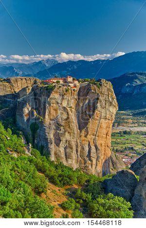 Meteora Mountain Monastery Complex in Greece
