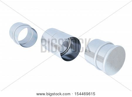 Hose adapters isolated on white. 3d rendering.