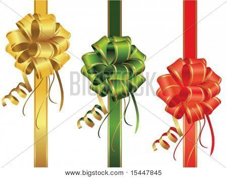 Set of decorative bow