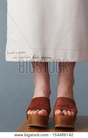 Closeup Of Elegant Young Women's Feet