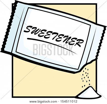open artificial sweetener packet