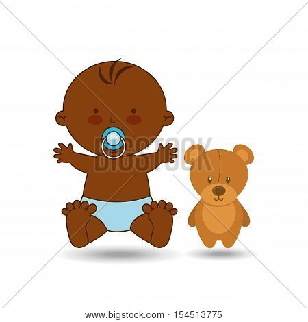 cute baby afro toy design vector illustration eps 10