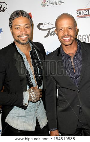 Octavius Terry-Sims and Jamal Terry-Sims arrive at the