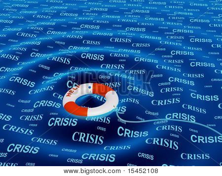 Conceptual image - help in a crisis situation