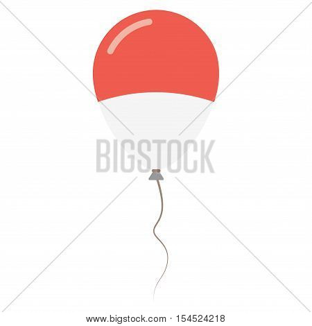Principality Of Monaco National Colors Isolated Balloon On White Background. Independence Day Patrio