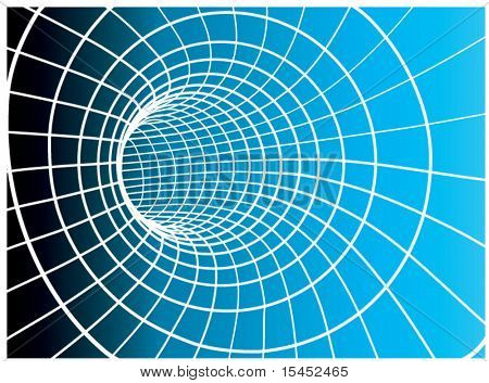 Vector abstract tunnel from a grid