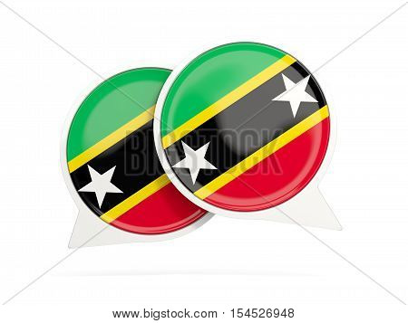 Flag Of Saint Kitts And Nevis, Round Chat Icon