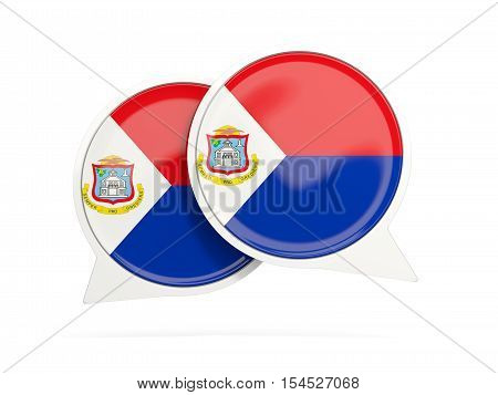 Flag Of Sint Maarten, Round Chat Icon