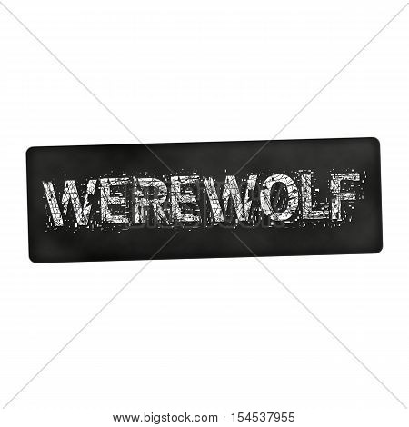 an images of Werewolf white wording on black background