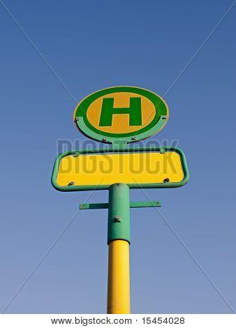 German bus stop sign